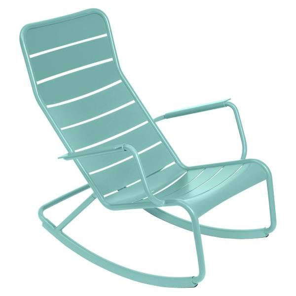 Fermob Luxembourg Rocking Chair in Lagoon Blue