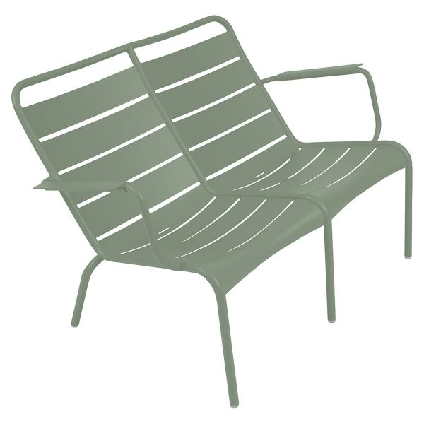 Fermob Luxembourg Low Armchair Duo in Cactus