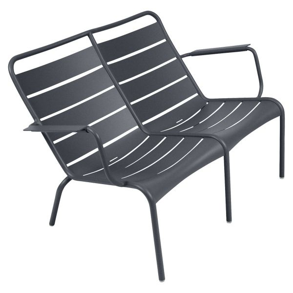 Fermob Luxembourg Low Armchair Duo in Anthracite