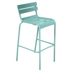Luxembourg High Outdoor Stool in colour Lagoon Blue from Luxembourg Modern Outdoor Furniture