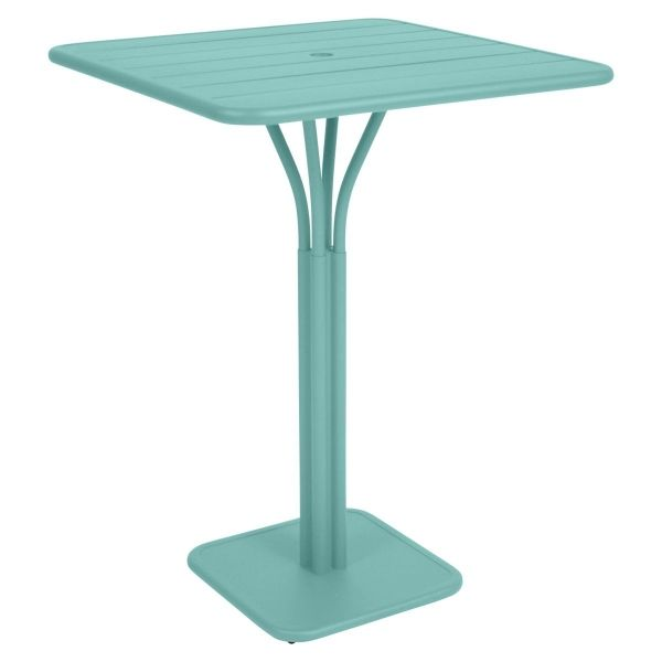 Fermob Luxembourg High Table in Lagoon Blue