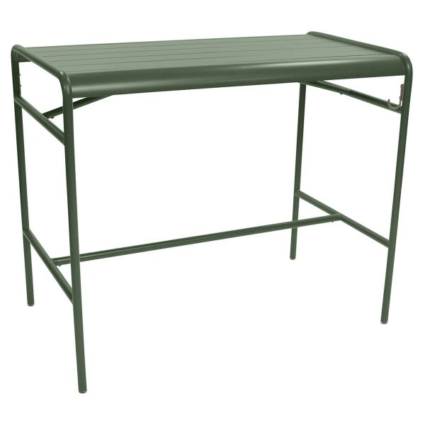Fermob Luxembourg High Table 126 x 73cm in Cactus