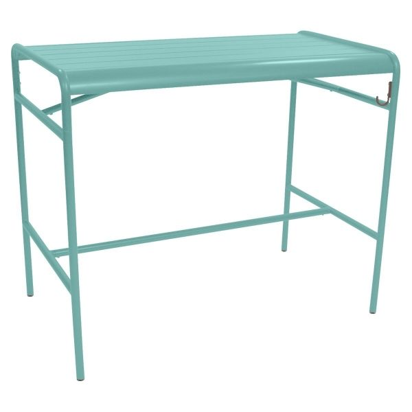 Fermob Luxembourg High Table 126 x 73cm in Lagoon Blue