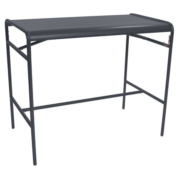 Fermob Luxembourg High Table 126 x 73cm in Anthracite