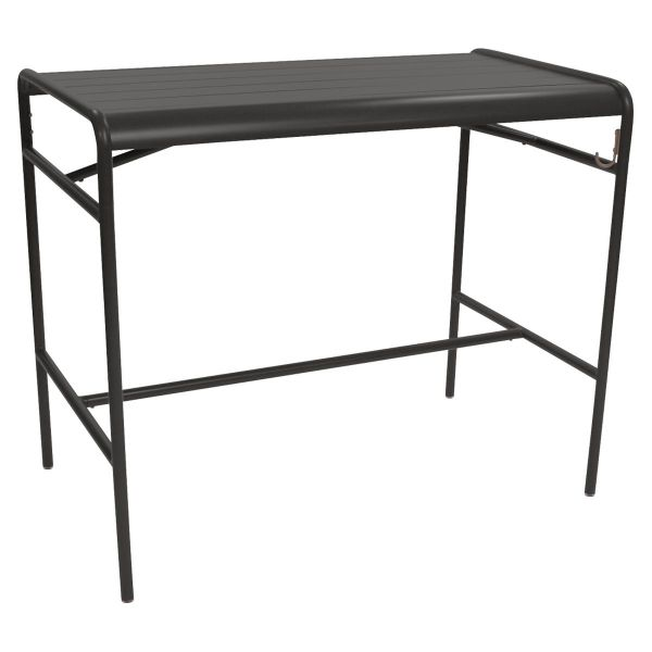 Fermob Luxembourg High Table 126 x 73cm in Liquorice