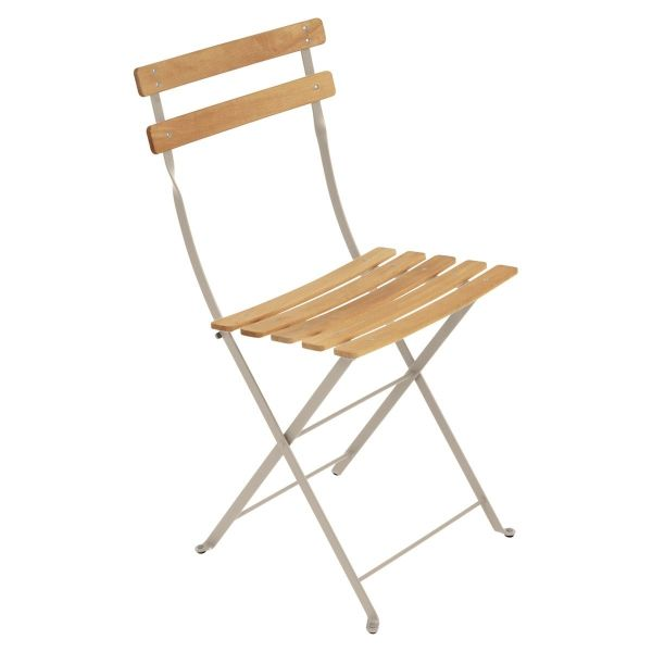 Fermob Bistro Folding Chair - Natural Slats in Nutmeg