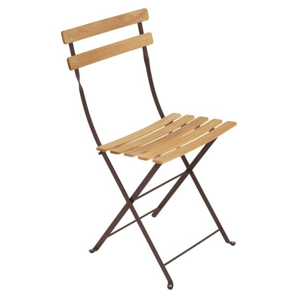 Fermob Bistro Folding Chair - Natural Slats in Russet