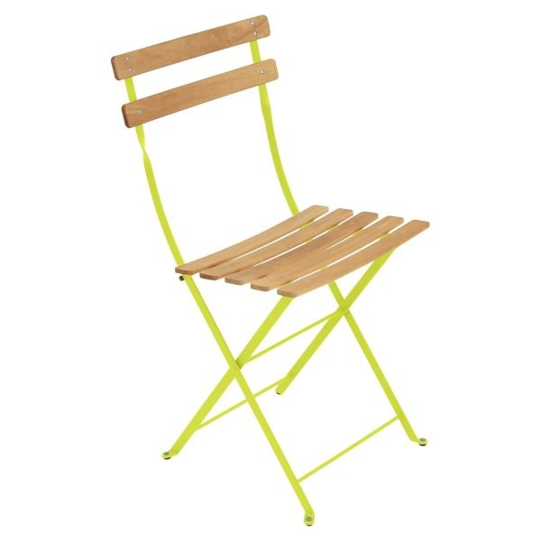 Fermob Bistro Folding Chair - Natural Slats in Verbena