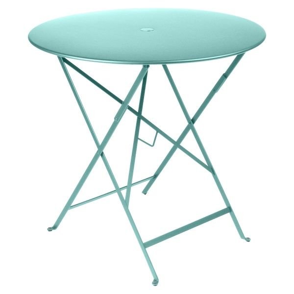Fermob Bistro Table Round 77cm in Lagoon Blue