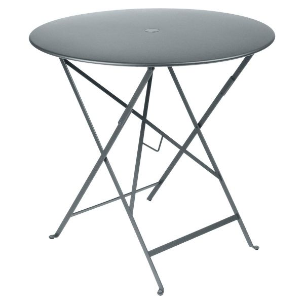 Fermob Bistro Table Round 77cm in Storm Grey