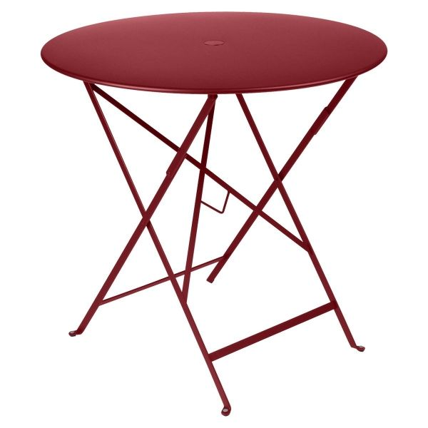Fermob Bistro Table Round 77cm in Chilli