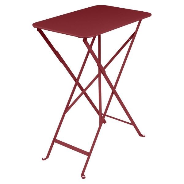 Fermob Bistro Table Rectangle 57 x 37cm in Chilli
