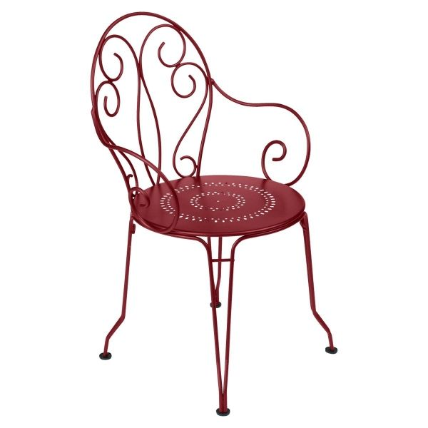 Fermob Montmartre Armchair in Chilli