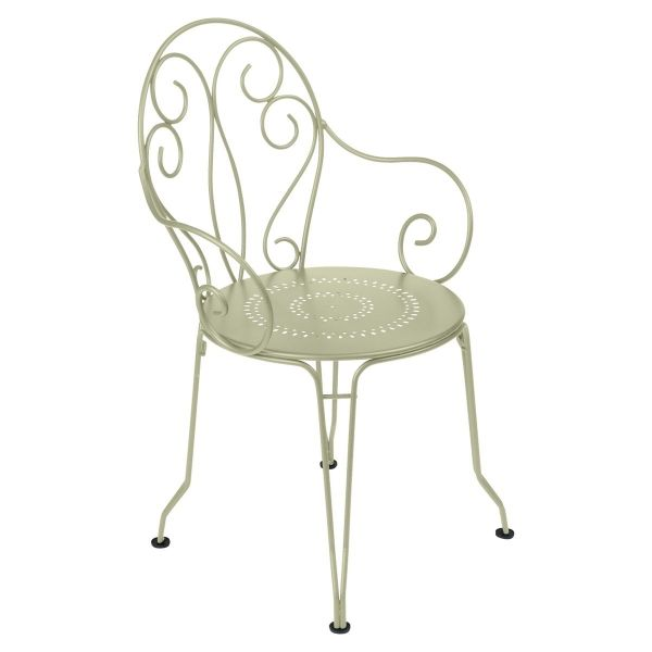 Montmartre Outdoor Armchair in colour Willow Green from the Montmartre French Garden Furniture collection
