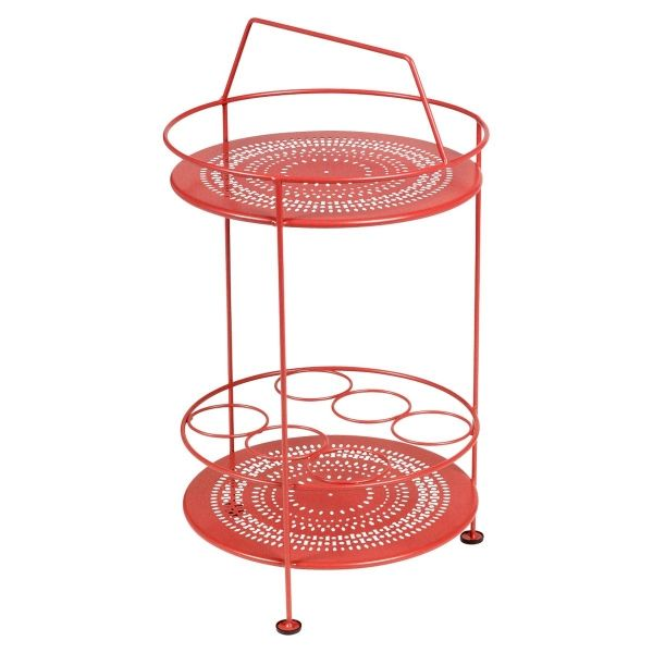 Fermob Montmartre Portable Bar in Poppy
