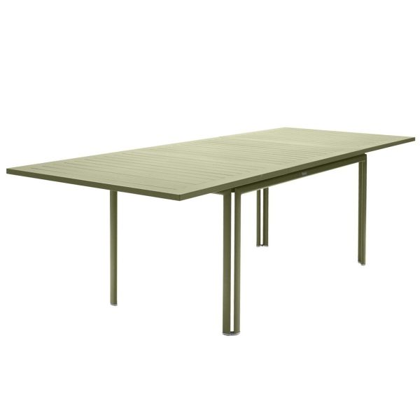 Fermob Costa Extending Table 160 to 240cm x 90cm in Willow Green