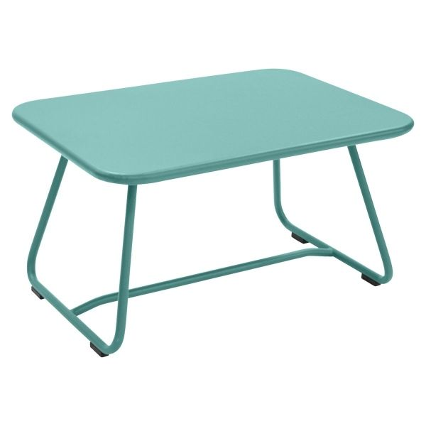 Fermob Sixties Low Table in Lagoon Blue