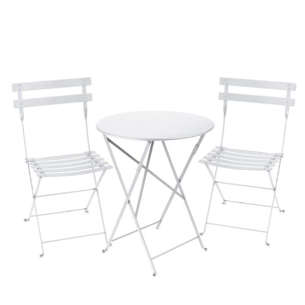 Fermob Bistro Set - 60cm Table and 2 Chairs in Cotton White
