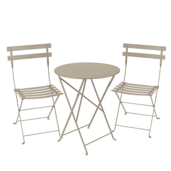 Fermob Bistro Set - 60cm Table and 2 Chairs in Nutmeg