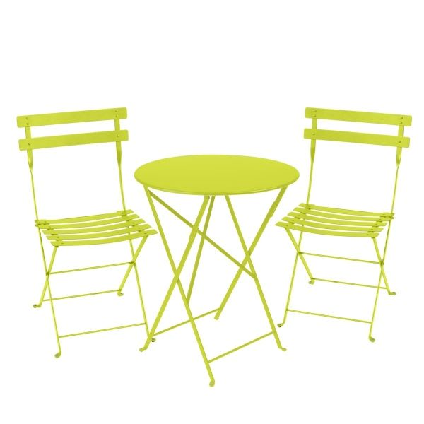 Fermob Bistro Set - 60cm Table and 2 Chairs in Verbena