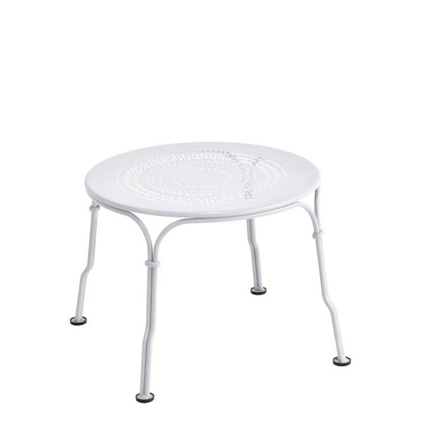 Fermob 1900 Low Table in Cotton White
