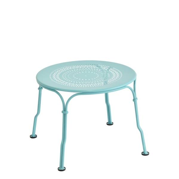 Fermob 1900 Low Table in Lagoon Blue