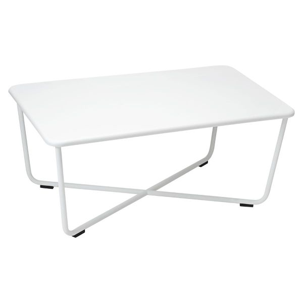 Fermob Croisette Low Table in Cotton White