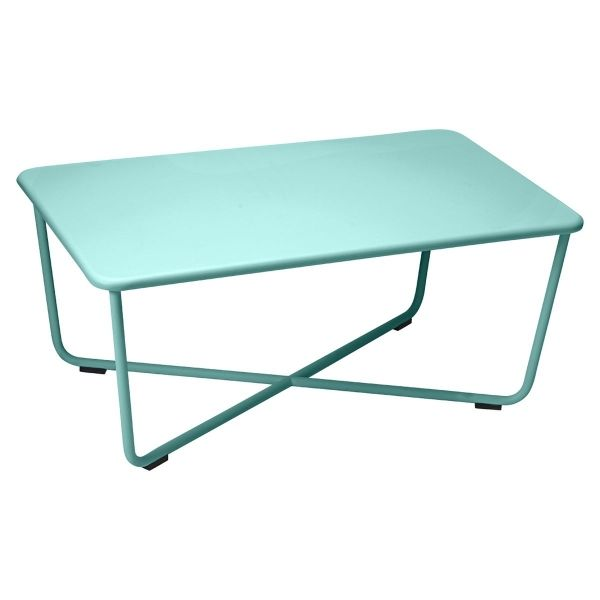 Fermob Croisette Low Table in Lagoon Blue
