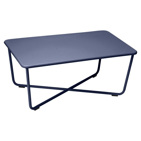 Fermob Croisette Low Table in Deep Blue