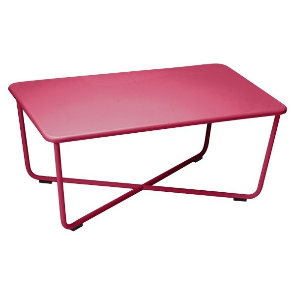 Fermob Croisette Low Table in Pink Praline