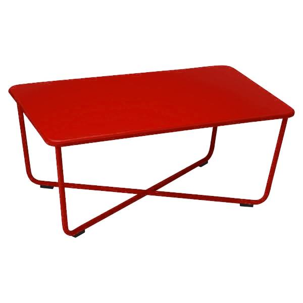 Fermob Croisette Low Table in Poppy