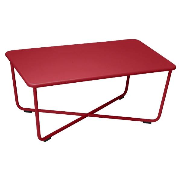 Fermob Croisette Low Table in Chilli