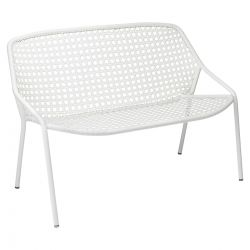 Croisette Outdoor Bench 2 Seater in colour Cotton White from Croisette Collection