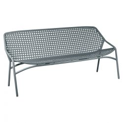 Croisette Outdoor Bench 3 Seater in colour Storm Grey from Croisette Collection