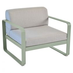 Bellevie Contemporary Outdoor Armchair - Grey Cushions in colour Cactus from Bellevie Contemporary Outdoor Furniture