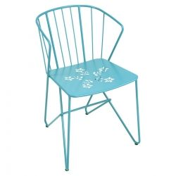 Flower Outdoor Armchair in colour Turquoise from Flower Collection