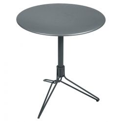 Flower Pedestal Outdoor Table Round 67cm in colour Storm Grey from Flower Collection
