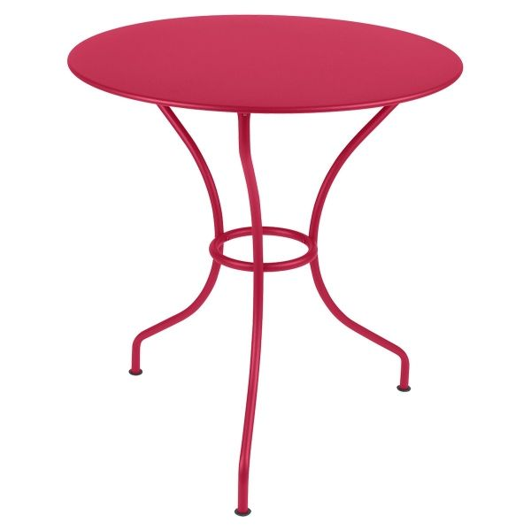Fermob Opera Round Table 67cm in Pink Praline