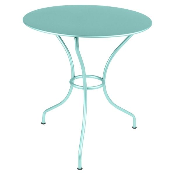 Fermob Opera Round Table 67cm in Lagoon Blue