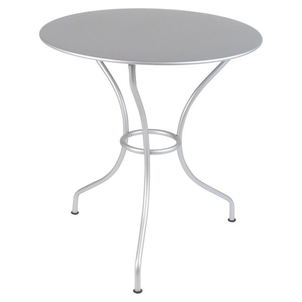 Fermob Opera Round Table 67cm in Steel Grey