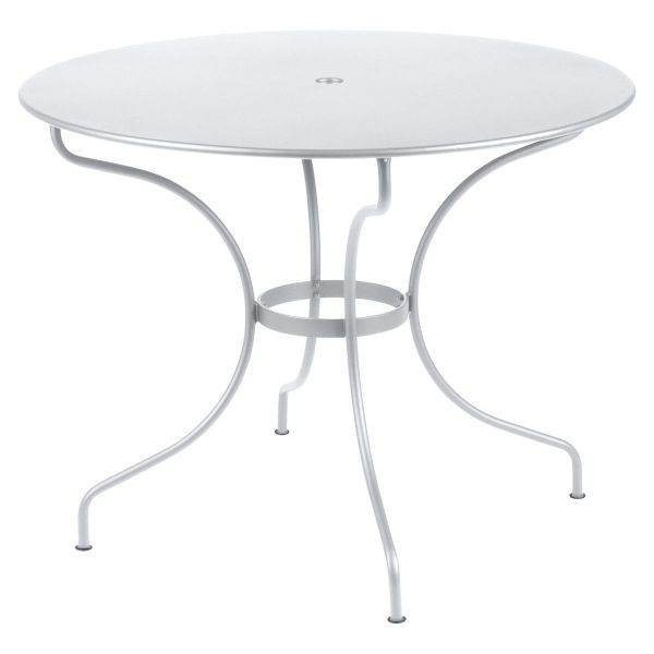 Fermob Opera Round Table 96cm in Cotton White