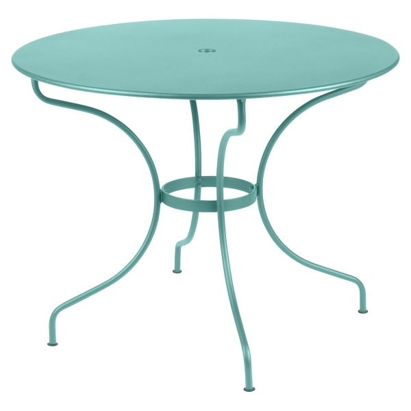 Fermob Opera Round Table 96cm in Lagoon Blue