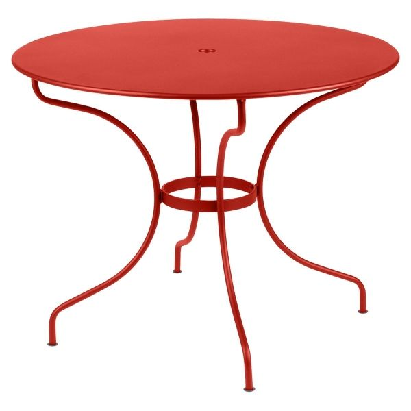 Fermob Opera Round Table 96cm in Capucine