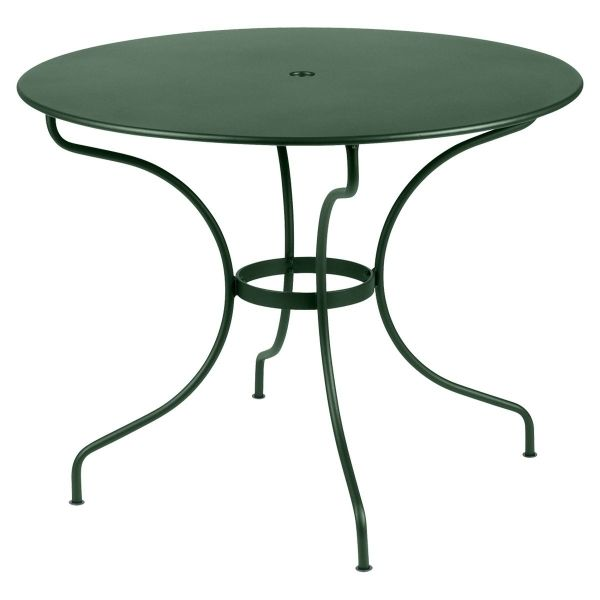 Fermob Opera Round Table 96cm in Cedar Green
