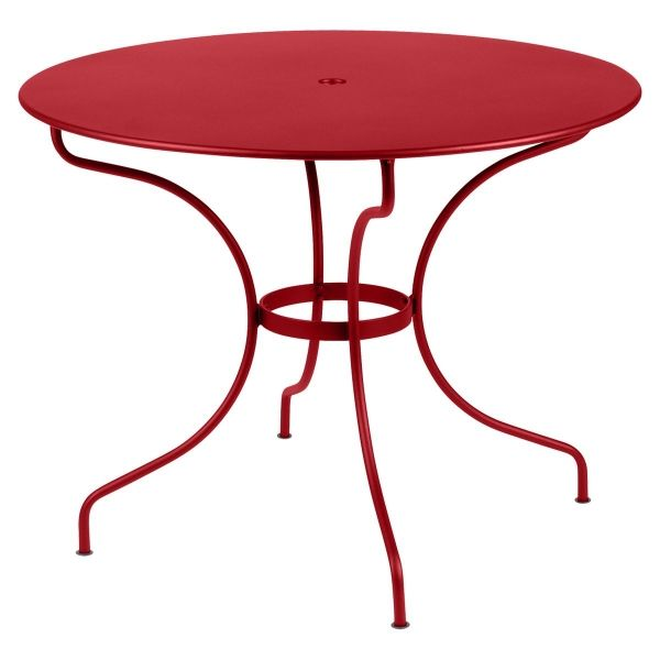 Fermob Opera Round Table 96cm in Poppy