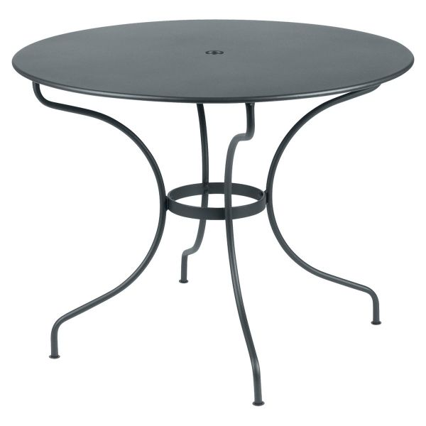 Fermob Opera Round Table 96cm in Storm Grey