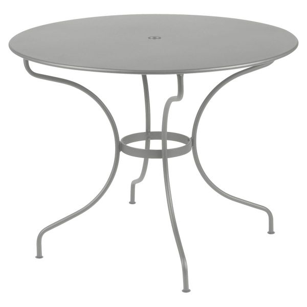 Fermob Opera Round Table 96cm in Steel Grey