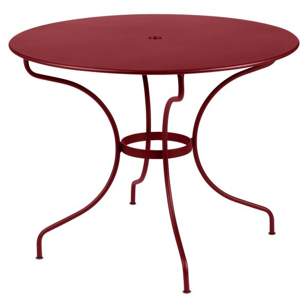 Fermob Opera Round Table 96cm in Chilli