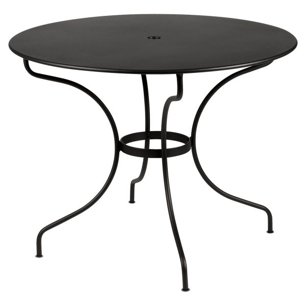 Fermob Opera Round Table 96cm in Liquorice