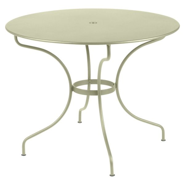 Fermob Opera Round Table 96cm in Willow Green